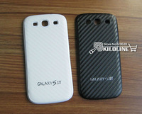 10pcs/Lot Carbon Fiber Battery Door Housing Back Cover Battery Cover For Samsung i9300 Galaxy S3 S III