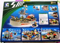 WANGE enlightenment education educational toys plastic building blocks model toys military battleship model 040330 free shipping
