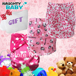 Wholesale-Sell Best Minky Pink Sister Style Baby Infant Cloth Diaper Reusuable Nappy Covers+GIFT(China (Mainland))