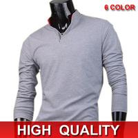 Mens Fashion T-Shirts Top V Neck designer t-shirt mens long sleeve t-shirt Slim Fit  Leisure Stylish New XS S M L D307