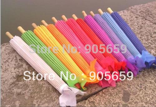 (100 PC/sacco), fatti a mano 30 pollici nervature di bambù colore solido ombrelli da sposa da sposa
