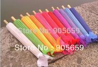 (100 pcs/lot) Handmade 30 Inches Bamboo Ribs Solid Color Bridal Wedding Umbrellas