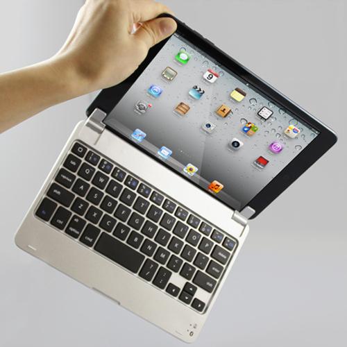 Slim Aluminum Wireless Bluetooth Keyboard Case Cover for Apple iPad Mini Free shipping(Hong Kong)