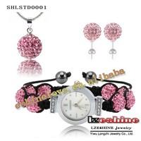Christmas Sales Promotion New Style Shamballa Bracelets With Double Row Crystal Ball(18pcs) SMAVmix1