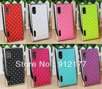 1pc Deluxe Reinestone Bling Hard Case Cove For LG E610 E612 E615 Optimus L5 Free shipping