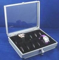 (MIN ORDER $10) hotsale 12 Grid Watch Display Jewelry Storage Collection Box Case Aluminium Square Organizer holder Slots
