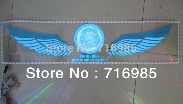 (Lion King) New Car Música Rhythm Lâmpada LED Auto Sound música ativado Equalizer Brilho Flash Kit luz Etiqueta Subwoofer(China (Mainland))