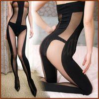 sexy lingerie for women,Superia America selebritee sexy underwear 133,stripe open crotch bodysuit,teddies,body stockings