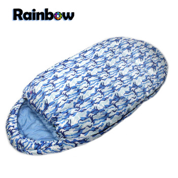 Retail High quality Cute camouflage 2.2kg Widened camping sleeping bag in spring/autumn/winter Free shipping