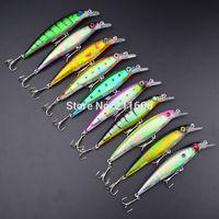 "New 2015 Top Minnow fishing lures 10 colors Fishing bait 0.468oz-13.26g/4.3""-10.92cm 10pcs/lot fishing tackle free shipping"