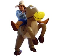 inflatable cow boy fancy dress up costume stag hen party fun cowboy halloween
