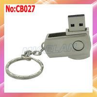 Free shipping Wholesale!Metal USB Flash Drive 1GB/2GB/4GB/8G/16GB/32GB/64GB,Swivel style USB Flash Drive #CB027