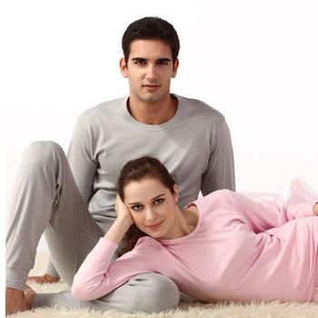 KEW215 Cotton Men's Sleepwear Soft Men's Spring Long Johns Pure Cotton Men Pajamas Autumn Underwear