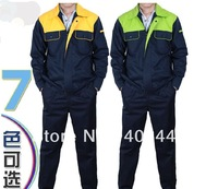 free shipping Men Candy colors 7 colors Long sleeve Uniforms Engineering clothing