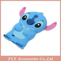 10pcs/lot Freeshiping 3D Cute Stitch Silicone Cases Silicon lilo cover for Samsung Galaxy S4 i9500