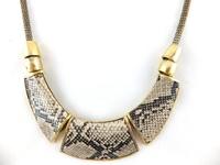 new arrive European fashion snake pattern chunky chain choker necklace free shipping HeHuanXL025