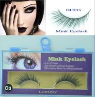 5 Pairs Freeshipping MINK FUR Eye Lash extension, Artificial Fake False eyelashes BHD3