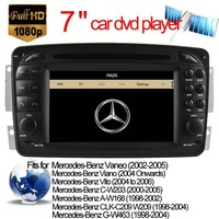 Factory price Car DVD Player GPS Navigation for Mercedes Benz A W168/C W203/Vaneo/Viano/Vito/CLK C209/W209/G W463