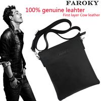 Brand design First layer cowhide leather handbag 100%  genuine leather bag men best  business  messenger real leather bag