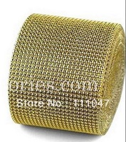 free shipment,24 rows 3mm gold Plastic rhinestone Trimming/bangding,10yards/lot,plastic wrap for candle ring/wedding/garment