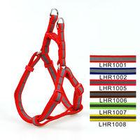Wholesale Free shipping (7 Colors) 6pcs/lot Classic  Reflective Print Pet Dog Harness and Leash Set 1.0cm