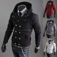 Hot Sale Spring Double Breasted Men Hoodies/Casual Men Hooded Sweatshirts/Brand Designer Men Coats