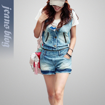 2013 New Arrival Ladies Loose Denim Jumpsuits women jeans Fashion Botton women Jumpsuits & Rompers Jeans SSY9906