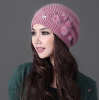 2013 autumn and winter women's fashion elegant sheep knitted hat FREE SHIPPING!
