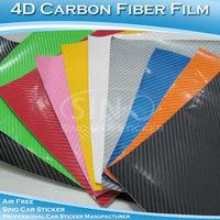 "SINO CAR STICKER 30x152CM 12""x60"" Free Shipping 4D Carbon Fiber Vinyl/ Fashionable 4D Carbon Fiber Sticker"