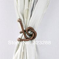 "Free shipping  magic curtain tieback, bendy metal material, diameter 8mm length 50cm(19"") antique copper color"