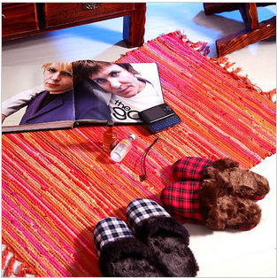 Manufacturers wholesale+ 2013 NEW pastoral style the colored rags carpets free shipping and a variety of optional 70cm x 180cm(China (Mainland))