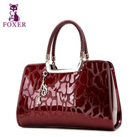 100% genuine leather FOXER women leather handbags new 2013 the female designer brand totes vintage handbag ladies evening bags