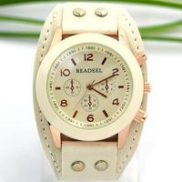 <New New style!> READEEL Brand women watches fashion Laether Men Unisex boys leather watch ladies Quartz Watch free shipping