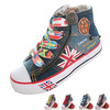 The original kids shoes children&#39;s canvas shoes children shoes boys girls high shoes size 25-35 size free shipping(China (Mainland))