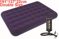 137*191*22cm double air mattress inflatable bed, airbed ,camping bed, outdoor bed, color box,pvc material, Include repair kit