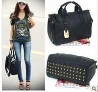 Wholesale 2013 Star Products! guaranteed 100% Rivets decoration handbags fashion  new women bags handbag bag