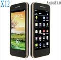 "X12 (BEDOVE) MTK6577 3G Android 4.0 512MB+4GB 1.2GHz 4.02"" FWVGA Screen GPS WIFI Smartphone.HKpost Free pping(China (Mainland))"