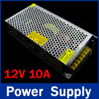 free shipping, 120W 12V 10A Switching Power Supply,100~120V/200~240V AC input,12V Output for LED Strip Light for CCTV camera