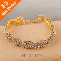 Fashion Noble And Exquisite Full Rhinestone Shining Bracelet For Woman B119 B120