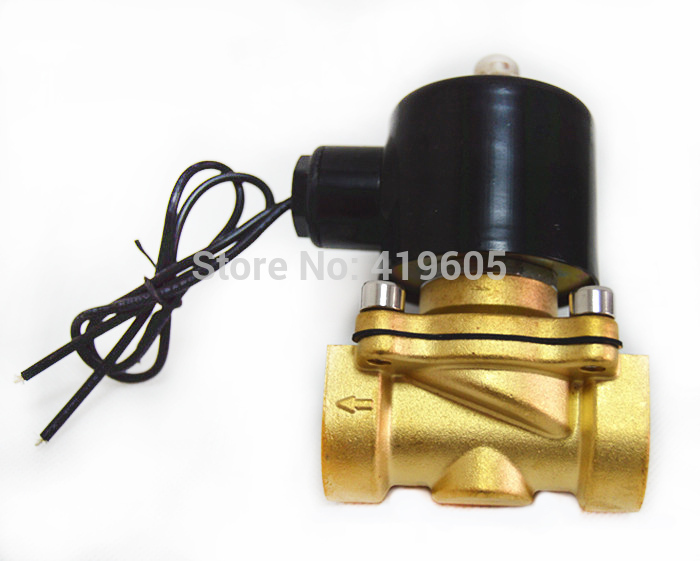 "Free shipping 3/4"" Solenoid Valve Normally closed for Water Air Oil 220vac(China (Mainland))"