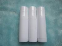#09 100pcs 4ml all white long bottom empty Lipstick tube Lip balm bottle Lip gloss container refillable  Lipbalm Lipgloss DIY