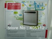 100M LTE CPE Huawei B593 4G Router +2 pcs huawei anttena