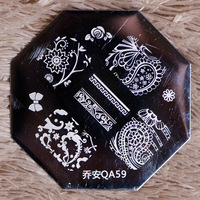 QA New Design  10 pieces/lot   Stamping Nail Plates   Nail Art Tool  QA59