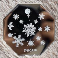 New Design  10 pieces/lot   Stamping Nail Plates  Nail Art   Nail Plates  Snow Flower Series   QA58
