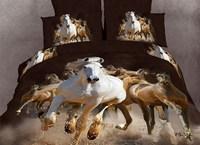 White Horse 3d bedding sets queen size 4pcs animal pattern comforter/duvet cover bed linen bedclothes cotton home textile