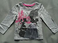 free shipping girls long sleeved  tops t shirts cotton grey