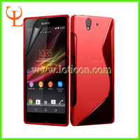 1000PCS/LOT,High Quality S line TPU Gel Case Cover for Sony Xperia Z,for Sony Xperia Z Gel Case + Fedex Free Shipping