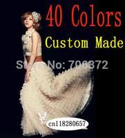 40 Colors Plus Size Custom Made any Length long maxi mesh chiffon skirt for women vintga saia longa spring  summer fall