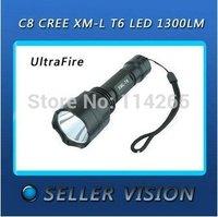 Hi-capacity power product Tactical Torch Light Flashlight UltraFire C8 CREE T6, 18650, lamp 982