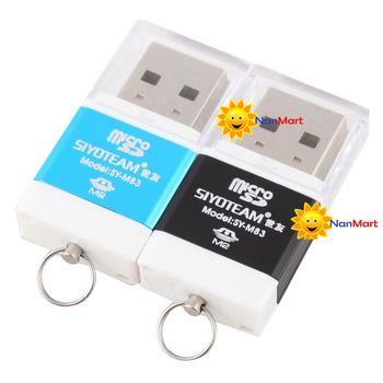 High Speed Mini USB 2.0 Micro SD TF T-Flash Memory Card Reader Adapter #25